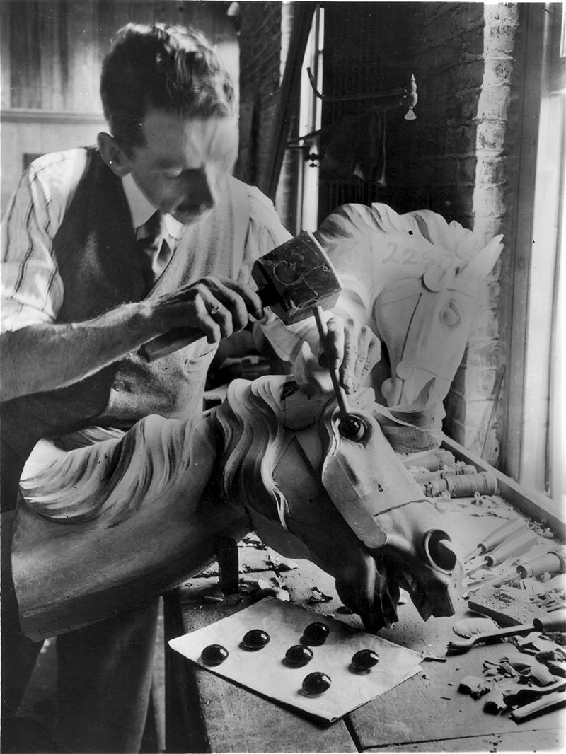 Daniel-Muller-carving-for-Dentzel-Carousel-Co-early-1900s