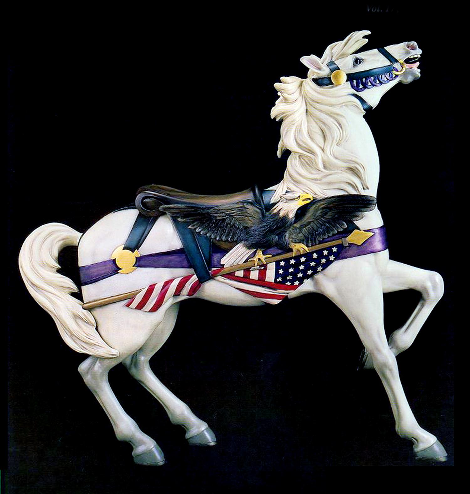 Patriotic-Dentzel-Muller-carousel-horse