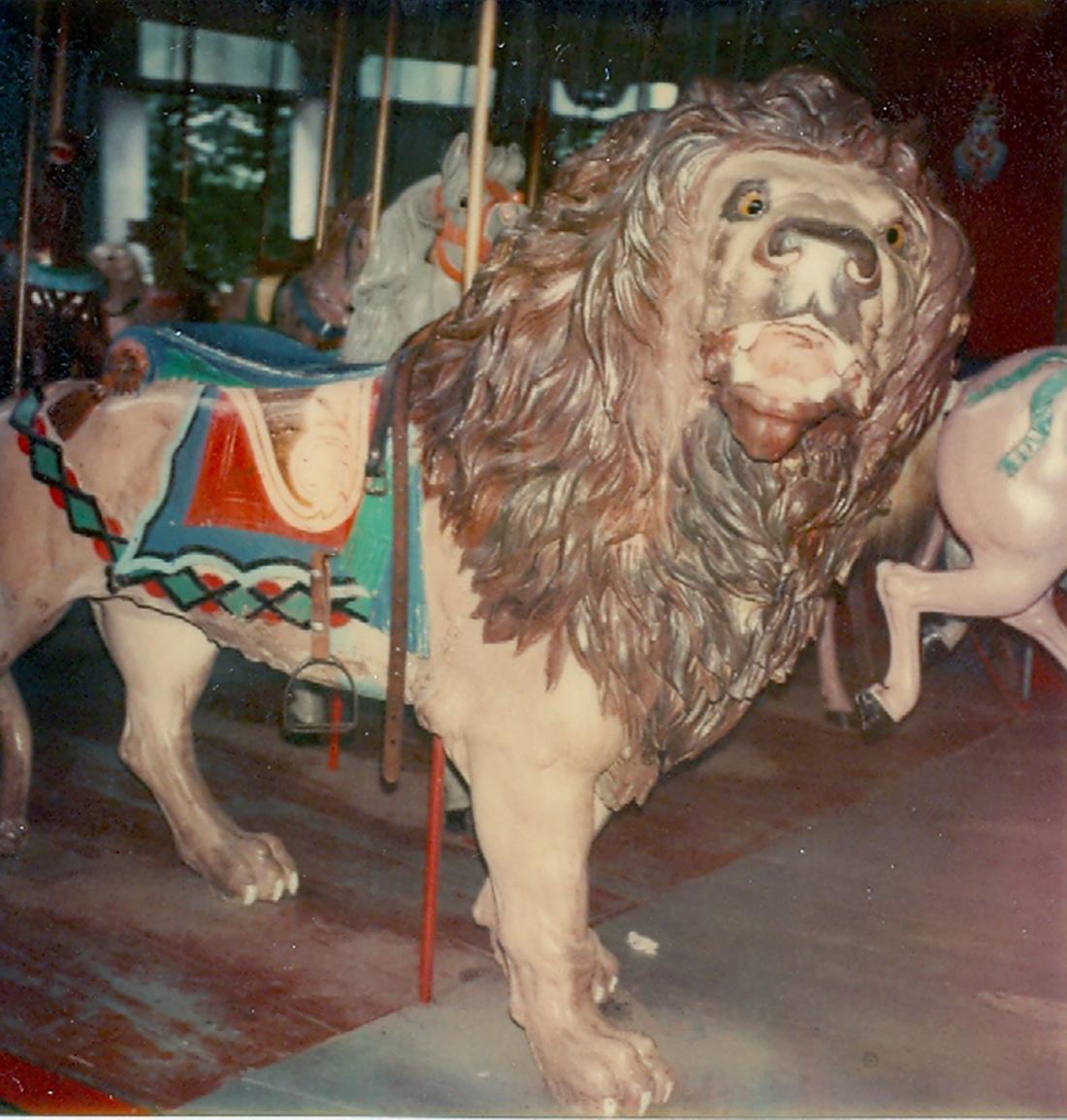 Salem-Willows-MA-ca-1905-Looff-carousel-lion-100