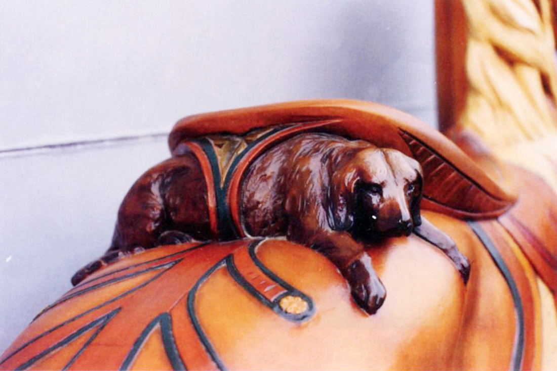 ca-1905-Salem-Willows-Looff-carousel-horse-dog-cantle
