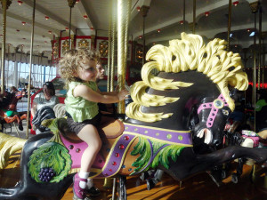 Last ride on the carousel, April, 2012.