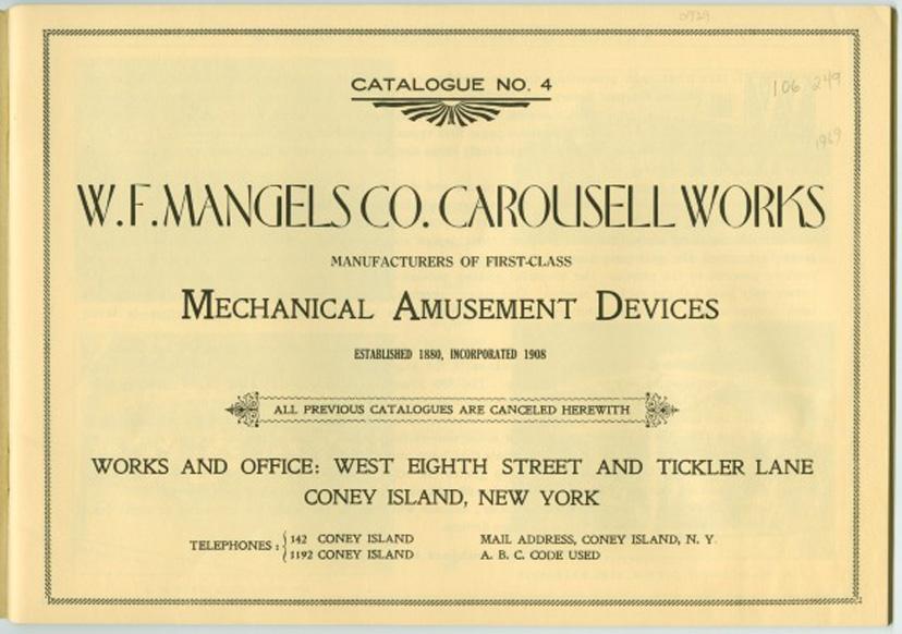 Mangels Catalog page 1