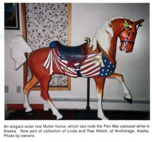Pen-Mar-Muller-carousel-horse-patriotic-stander