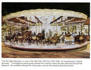 Pen-Mar-carousel-painting-Bruneske
