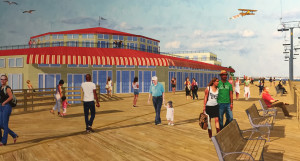 The proposed carousel and museum building with the classic style of Freeman's, just bigger and better.