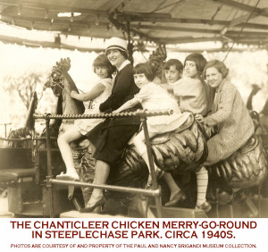 Chanticleer-chicken-merry-g-round-Steeplechase-park-ca-1940