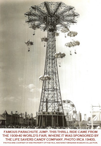 Parachute-ride-Coney-Island-sponsored-by-Lifesavers-Worlds-Fair-1940