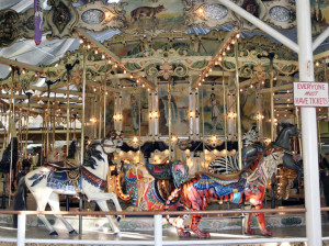 The 1902 Herschell-Spillman menagerie carousel at Trimper's Rides in Maryland.