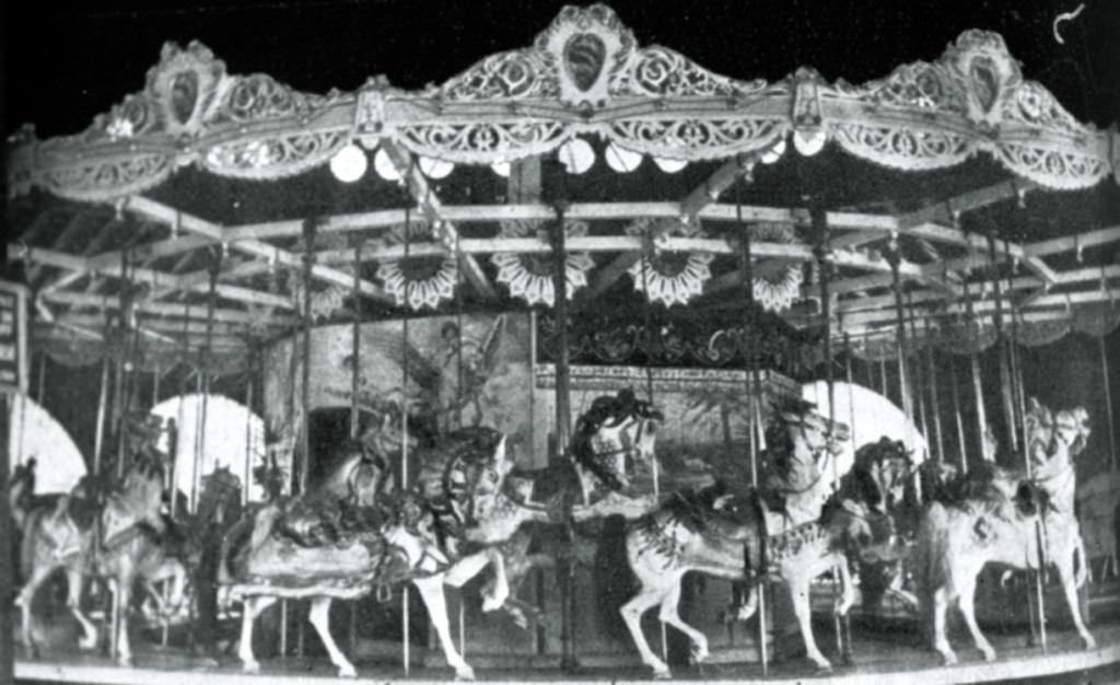 The first carousel at Palisades Park, a 1908 D. C. Muller Company three-row. Photo courtesy of the Palisadian