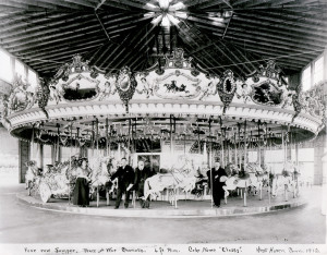 West Haven's last historic carousel, Ca. 1912 PTC #21 Carousel operated at Savin Rock, CT, from 1912 to the late 1960s. Photo courtesy of Tom Rebbie and the PTC Archives.