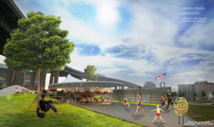 Buffalo Canalside Development rendering.