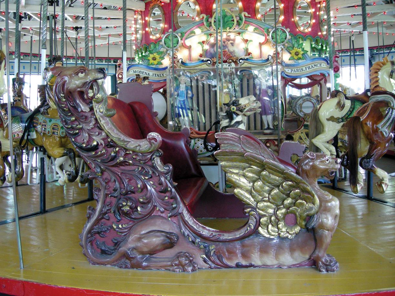 Ca-1915 Carmel-carousel-chariot-Rye-Playland-JCaruso-photo