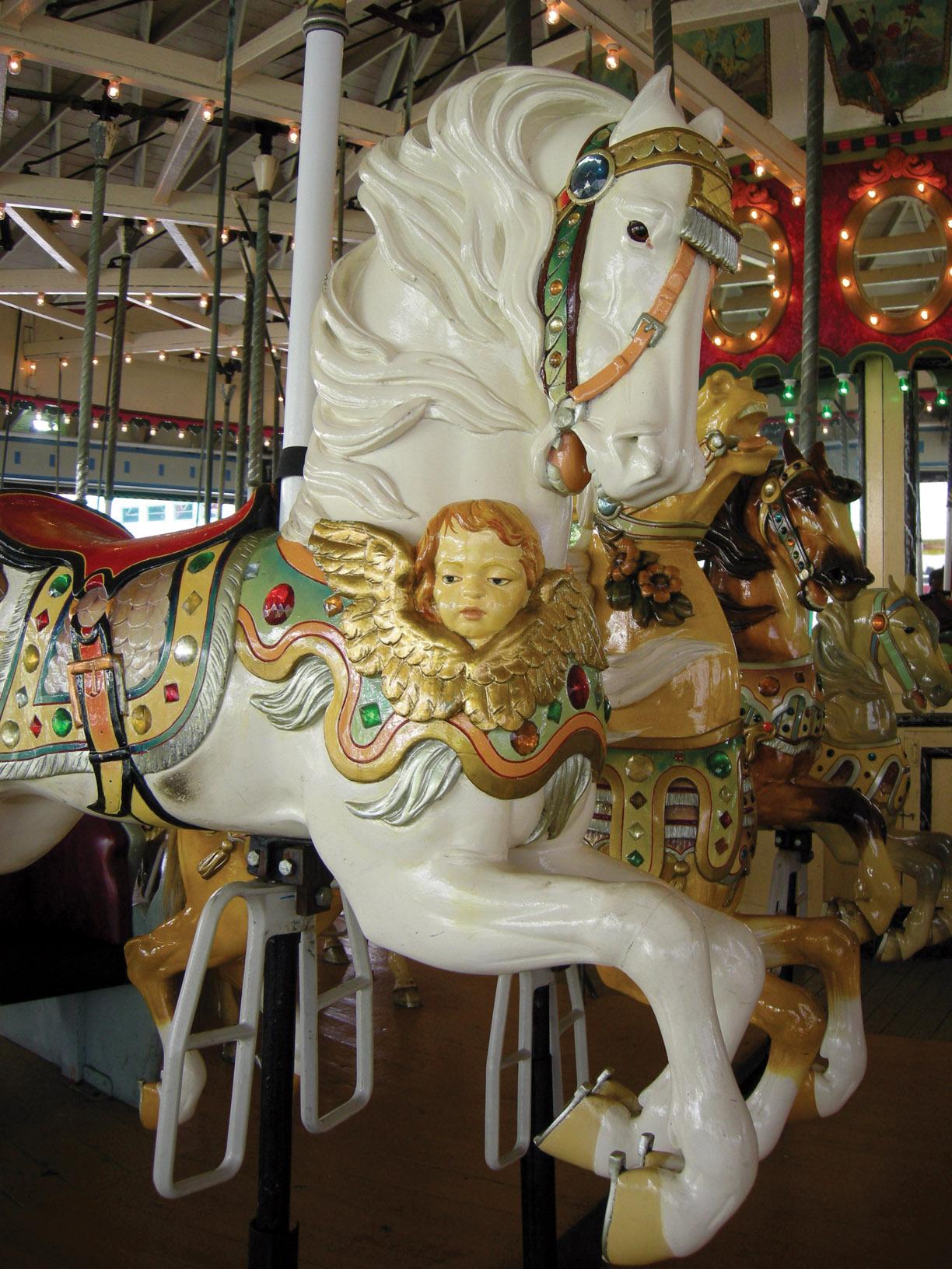 Ca-1915-Carmel-cherub-carousel-horse-Rye-Playland-JCaruso-photo