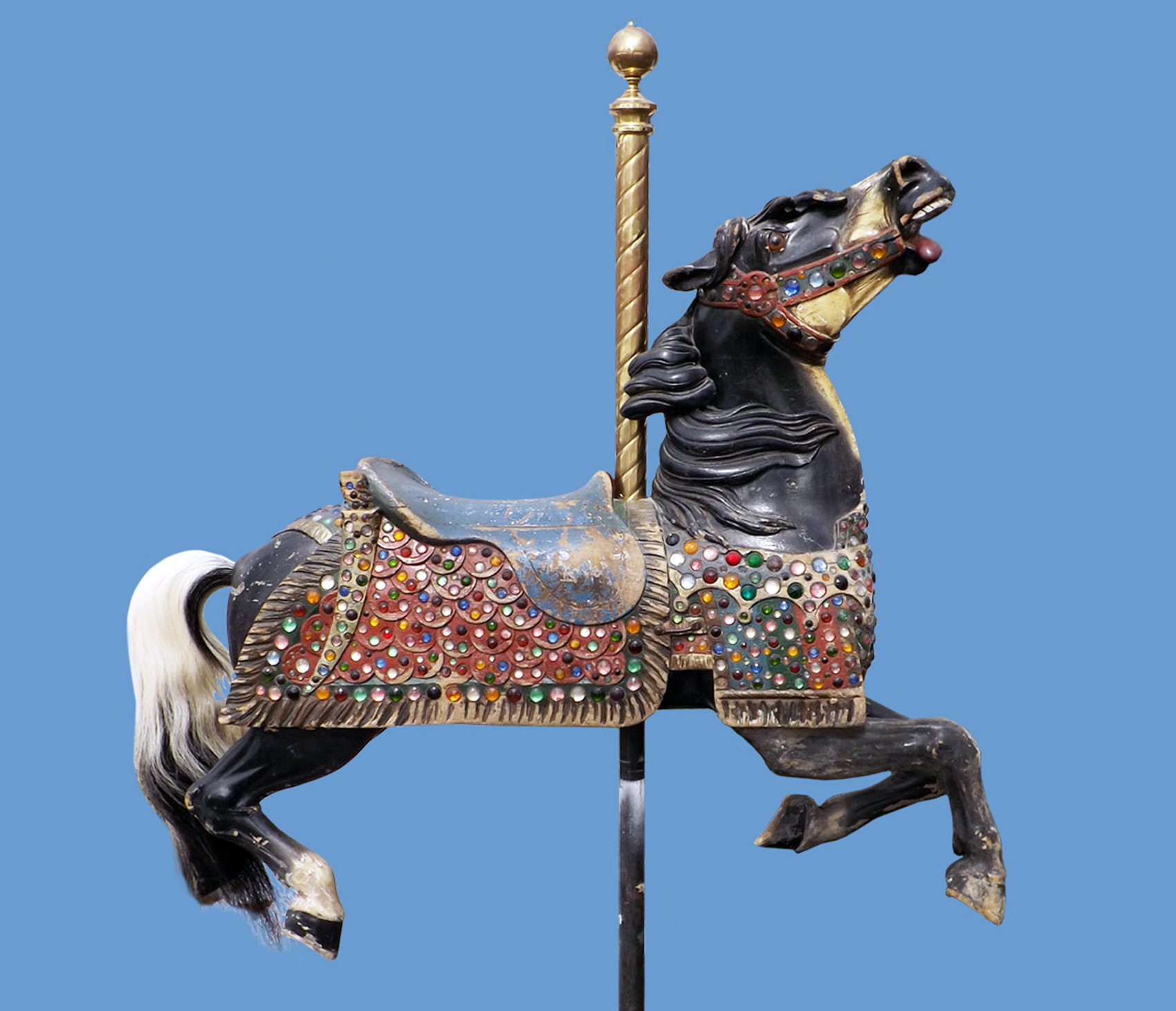 Carmel-Borrelli-armor-jeweled-carousel-horse-Fun-Forest