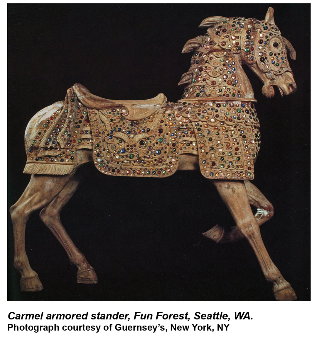 Fun-Forest-Carmel-Borrelli-jeweled-armored-carousel-horse-Guernseys-1989-catalog