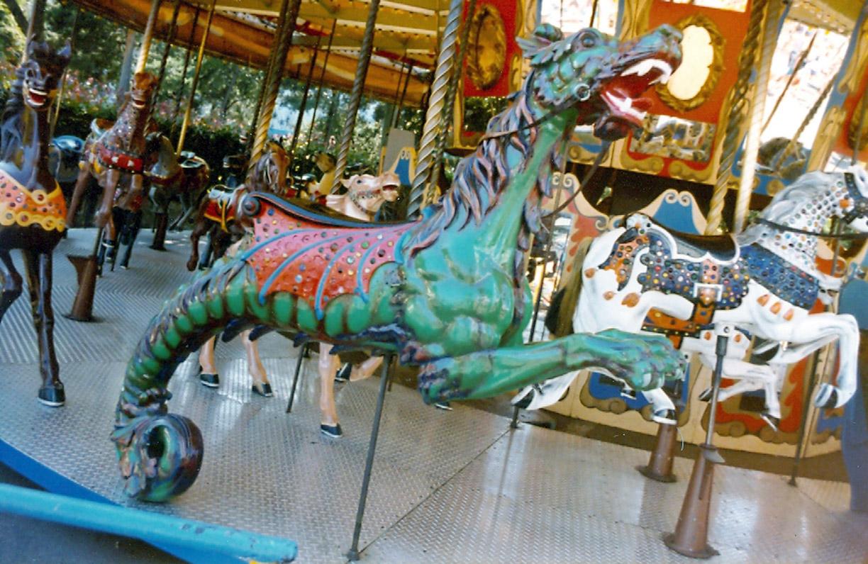 Looff-carousel-seadragon-Fun-Forest-carousel-WA