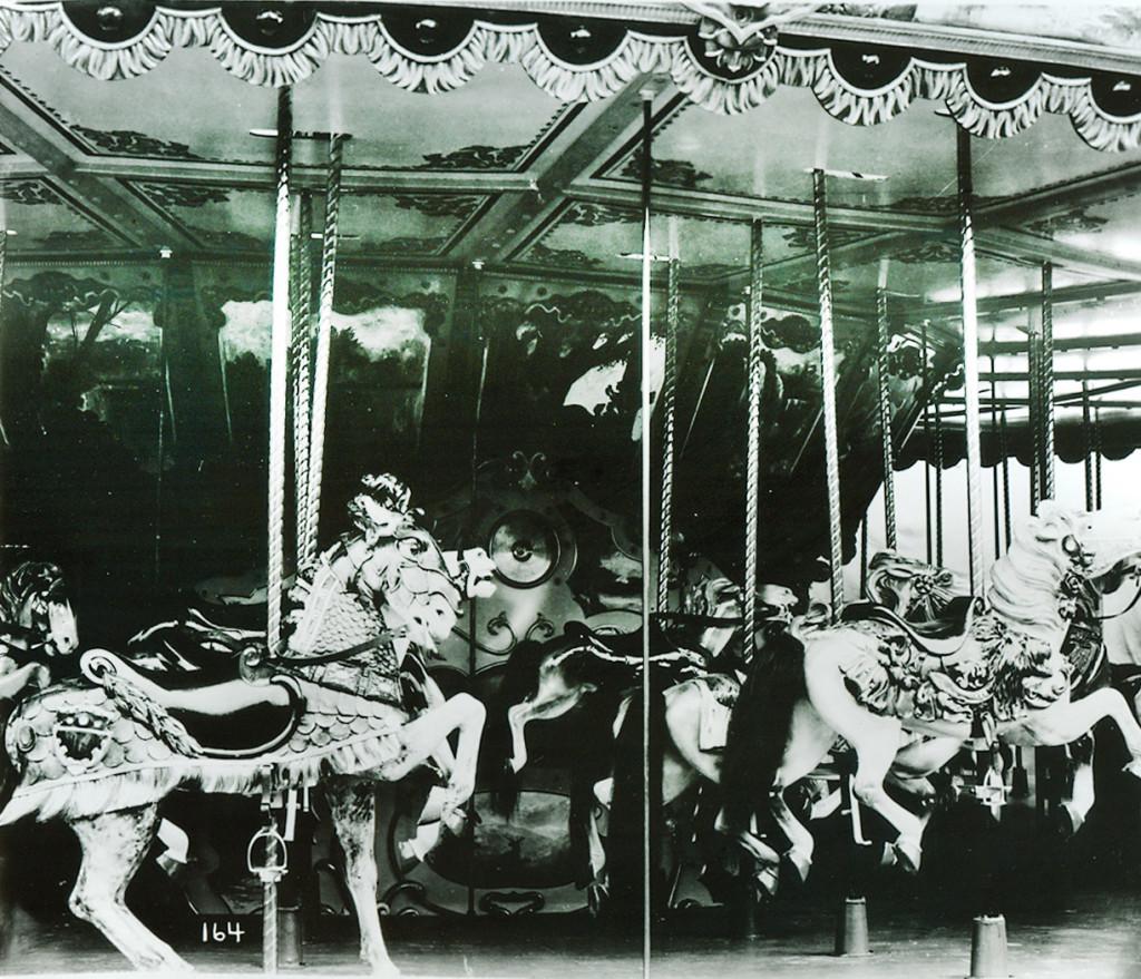 Ca. 1910 Herschell-Spillman menagerie carousel archive catalog photograph.