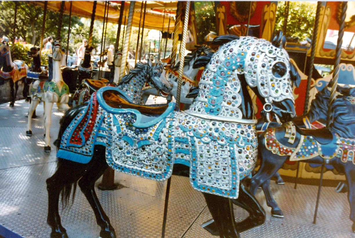 ca-1915-Carmel-jeweled-armored-horse-Fun-Forest-carousel-WA