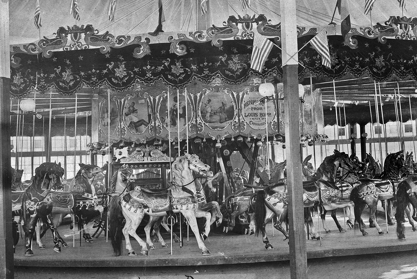 1890s-Sulzers-Louis-Bopp-Carousel-Harlem-River-Park-Looff-horses