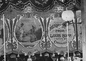 An art panel from the 1890s Bopp-Looff carousel.