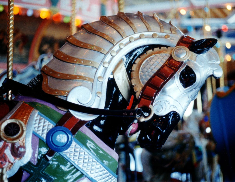 Historic-Holyoke-carousel-armored-horse-lancelot-1994