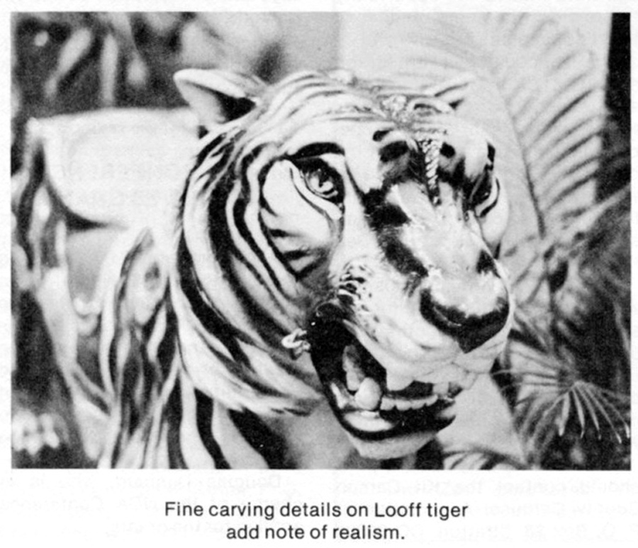 Looff Tiger Top Seller at Phillips May, 1986 Carousel Art Auction