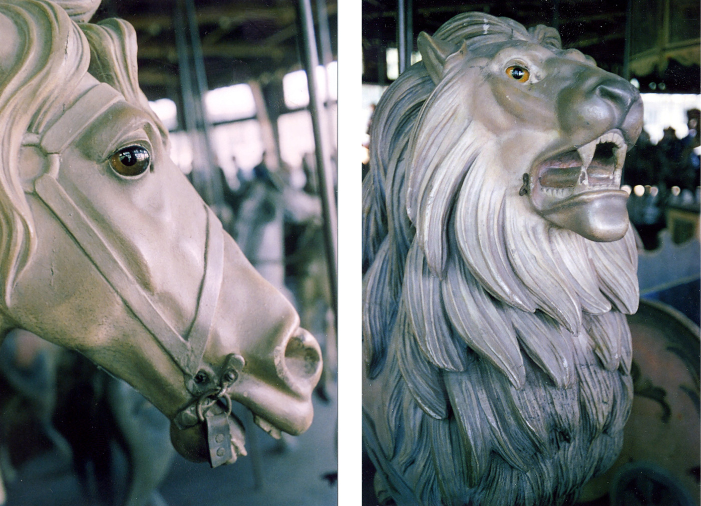 PTC-9-1905-carousel-lion--horse-Pine-Grove-PA-Barbara-Williams-1980-photo-1