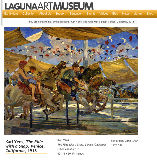 Laguna-Art-Museum-Karl-Yens-The-Ride-with-a-Snap-Venice-CA-1918
