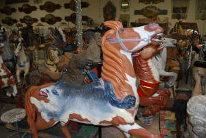 PTC-pelt-saddle-carousel-horse-running-horse-studio