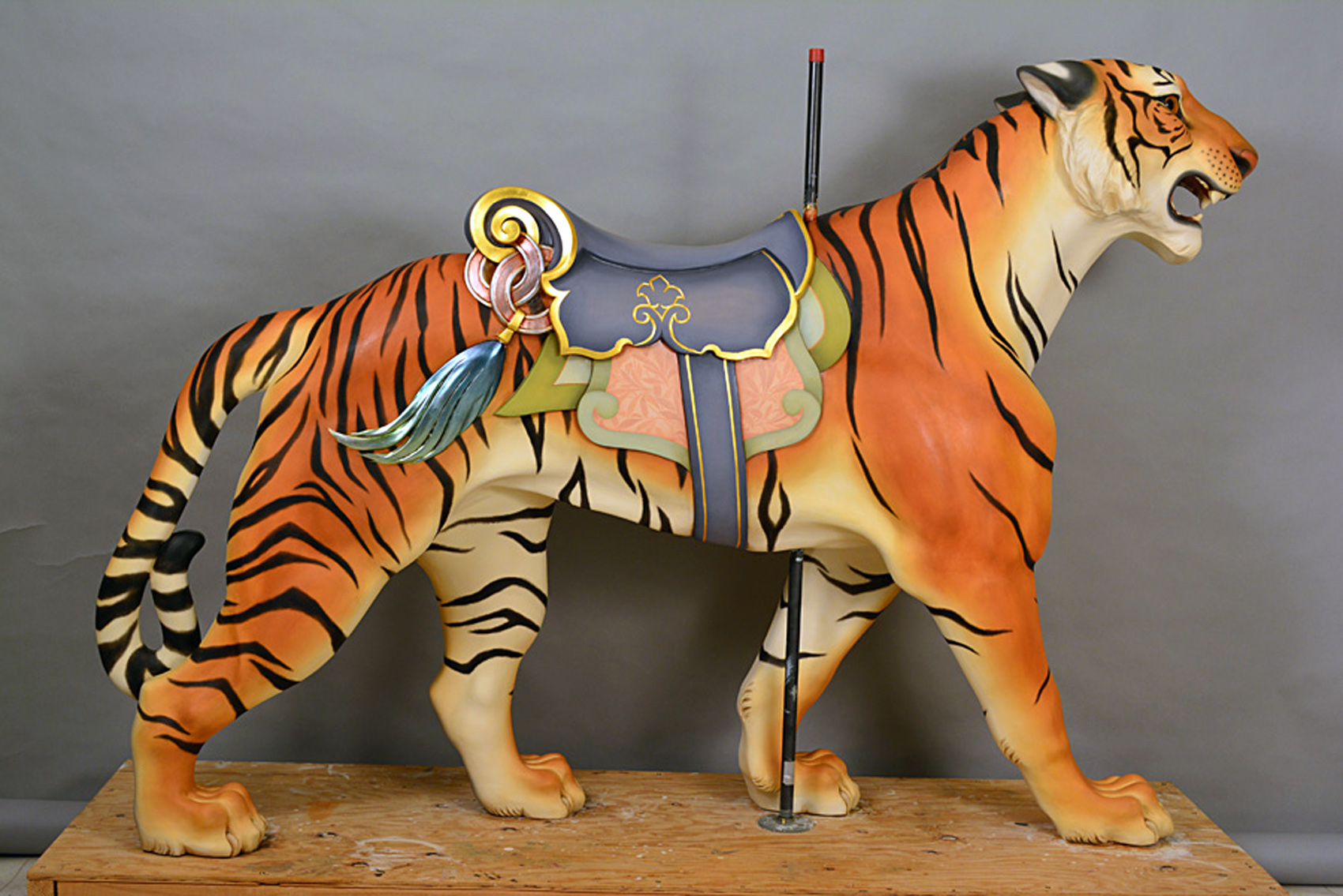 ca-1909-Historic-Dentzel-Carousel-Tiger-Pam-Hessey-restored