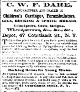 April 28, 1863 advertisement in the New Jersey Daily Guardian