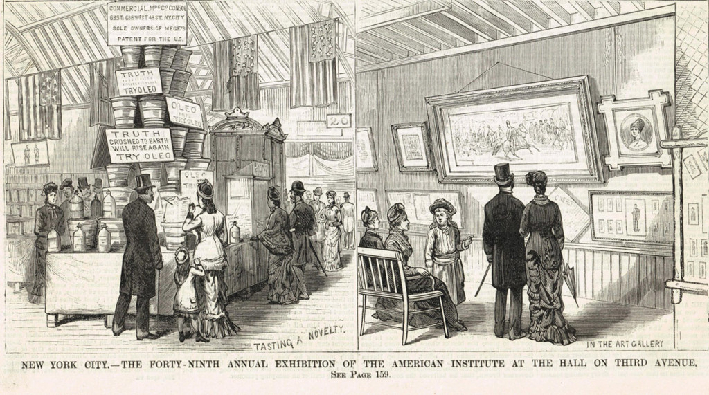 Exhibition at the American Institute Fair, New York City, 1880. Dare exhibited his toys and carriages at various exhibitions. Frank Leslie's Illustrated Newspaper, November 1880. Barbara Williams collection