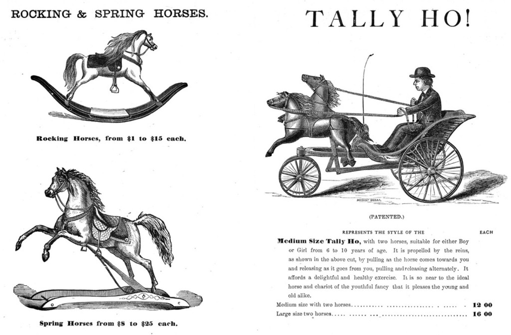 A page from an 1878 dated C.W.F. Dare toy catalog. Courtesy of the Strong National Museum of Play, Rochester, New York