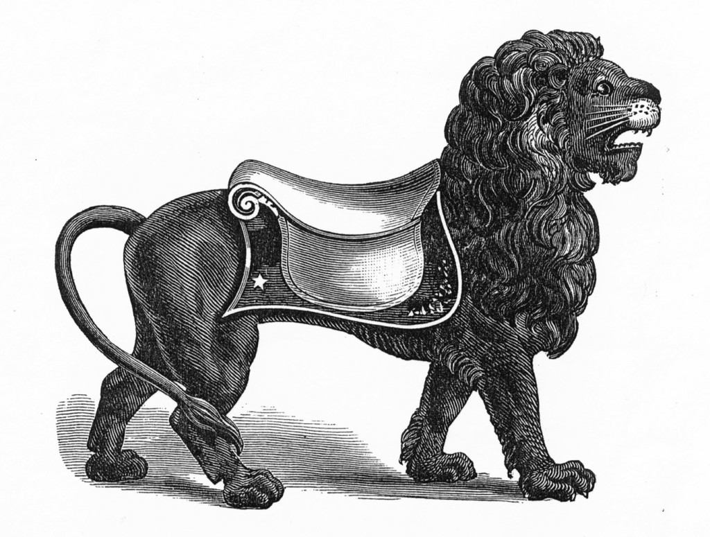 "Shown here, in the circa 1884 catalog, is a 14"" lion. Fred and Mary Fried Archive, American History Museum, Smithsonian"