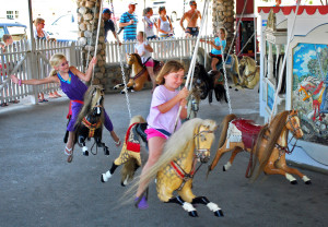 Rides are limited to children on the Watch Hill carousel.
