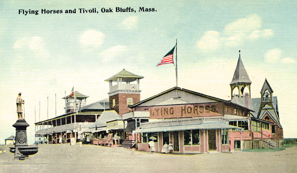 Early postcard of the carousel at Martha's Vineyard, Oak Bluffs, Massachusetts. Barbara Williams collection
