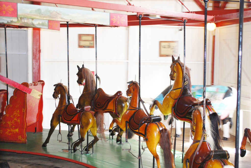 Inside view of the Oak Bluffs carousel. Photo courtesy of Roland Hopkins