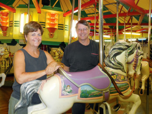 Vickie Stauffer, NCA vice president and Dan at the Perkasie Carousel in PA.